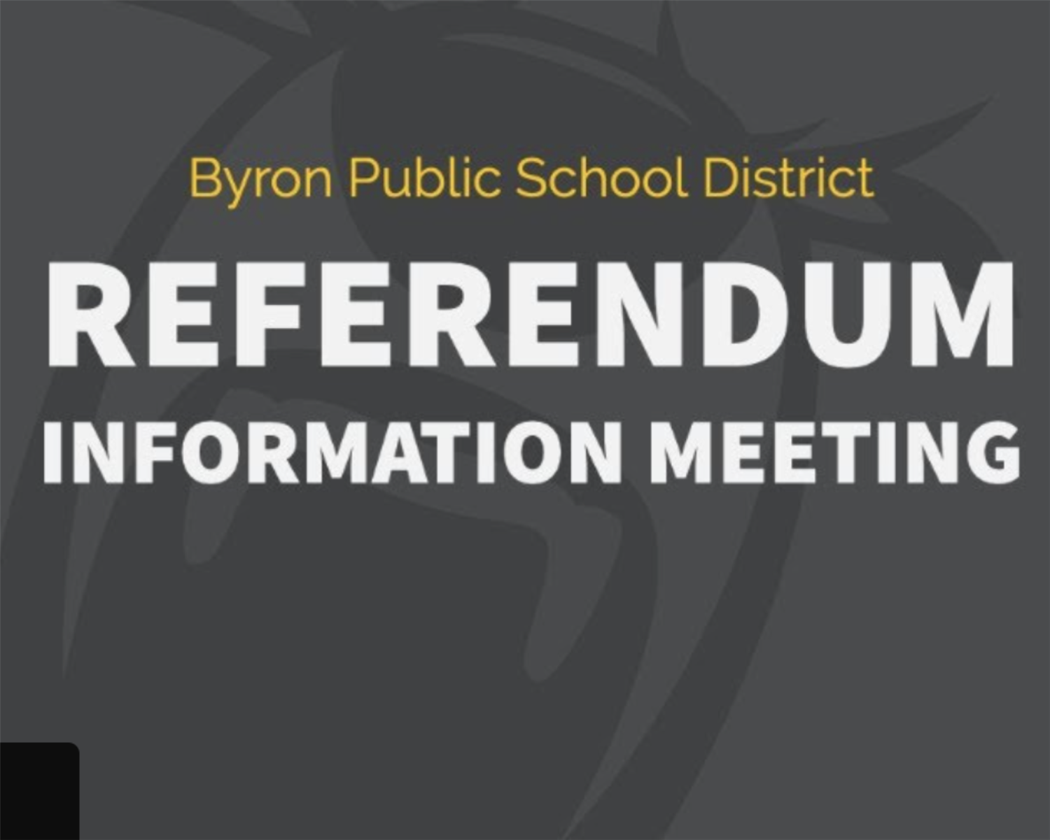 March 4th Referendum Information Meeting